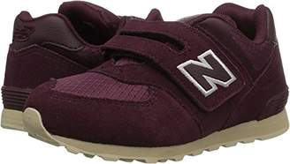 New Balance Boys' 574v1 Hook and Loop Sneaker