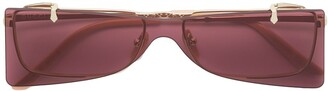 Gucci rectangular glasses with solar protection