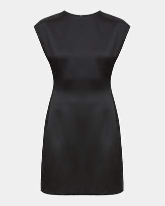 Theory Hammered Satin Structured Fitted Dress