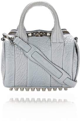Alexander Wang Mini Rockie In Pebbled Powder With Rhodium