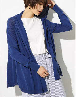 AZUL by moussy (アズール バイ マウジー) - 【AZUL BY MOUSSY】フレアーフーディーカーデ L/NVY