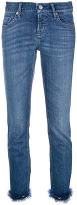 Cambio feather hem slim-fit jeans
