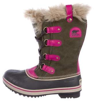 Sorel Suede Fur-Lined Ankle Boots