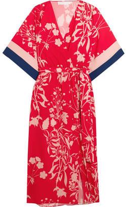 Borgo De Nor Raquel Floral-print Crepe De Chine Midi Dress