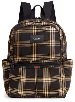 STATE Bags Kane Metallic Plaid Backpack