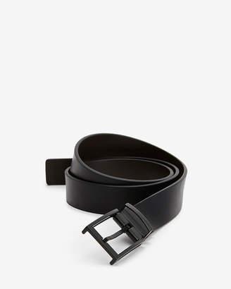 Express Reversible Matte Textured Square Prong Buckle Belt