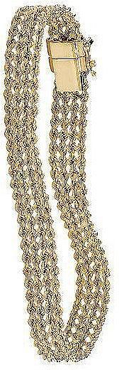 10k Braided Rope Bracelet 7 1/4