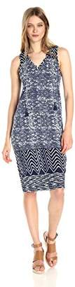 Lucky Brand Women's Blue Batik Dress