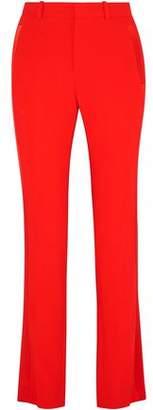 Givenchy Silk Satin-Trimmed Crepe Straight-Leg Pants