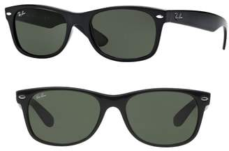 d81a585293 Ray-ban New Wayfarer Sunglasses - Black - ShopStyle