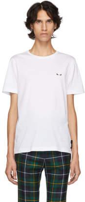 Fendi White I See You Eyes T-Shirt