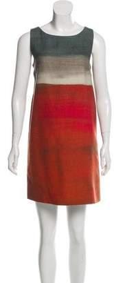 Paule Ka Wool Mini Shift Dress