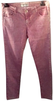 Berenice Pink Cotton Jeans for Women