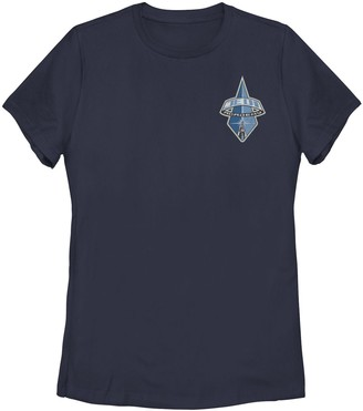 Star Wars Licensed Character Juniors' Jedi Academy Insignia Left Chest Pocket Logo Tee