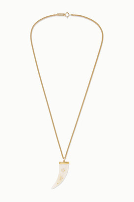 Isabel Marant Gold-tone Horn Necklace - White