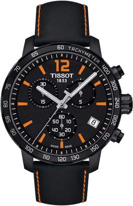 Tissot Quickster Chronograph Leather Strap Watch, 42mm