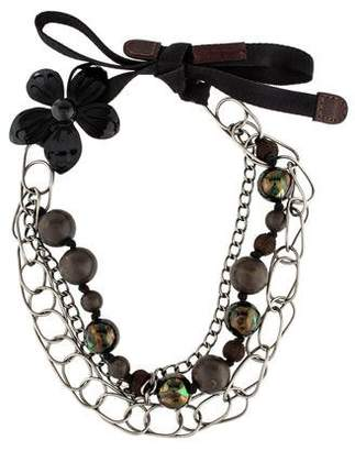 Marni Beaded Floral Multistrand Necklace