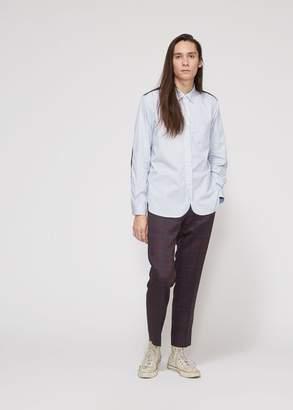 Junya Watanabe Cotton Twill Stripe Wool Check Shirt