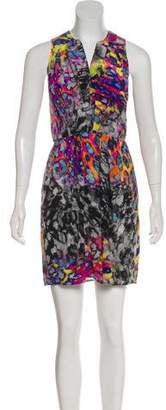 Amanda Uprichard Silk Sleeveless Mini Dress
