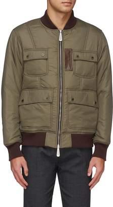 Hunting World Contrast inner sleeve padded bomber jacket