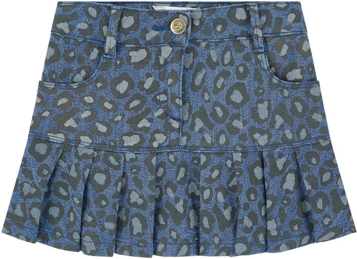 Little Marc Jacobs Mini Me printed jean skirt