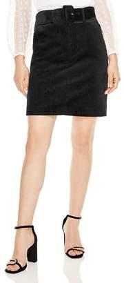 Sandro Libre Belted Corduroy Skirt