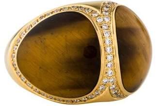 Di Modolo 18K Tiger's Eye Quartz & Diamond Cocktail Ring