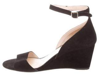Prada Suede Wedge Sandals