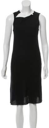 Ann Demeulemeester Wool Midi Dress Black Wool Midi Dress