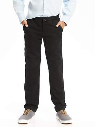 Flat-Front Skinny Uniform Khakis for Boys $19.94 thestylecure.com