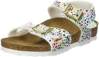 Birkenstock Kids Rio Oriental White Multi Colour Mosaic Narrow Sandals Size 2