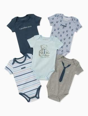 Calvin Klein baby boys 5-pack onesies