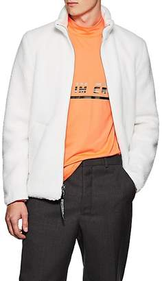 Stutterheim Raincoats Men's Sherpa & Cotton Twill Reversible Jacket - Ivorybone