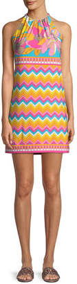 Trina Turk Summertime Bloom Vacaciones Sleeveless Mini Dress