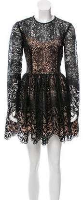 Alexis Lace-Accented Mini Dress w/ Tags
