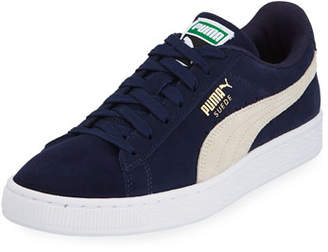Puma Men's Classic Suede Low-Top Sneakers, Blue