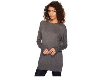 Splendid Long Sleeve Cut Out Pollover Women's Long Sleeve Pullover