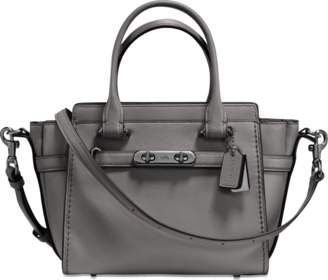 Coach Swagger 21 Carryall Bag in Heather Grey Calfskin