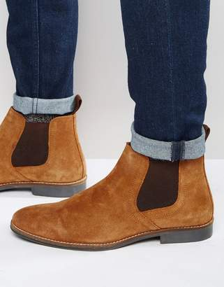 Red Tape Chelsea Boots Tan Suede