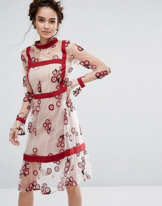 Endless Rose Floral Embroidered Dress $143 thestylecure.com