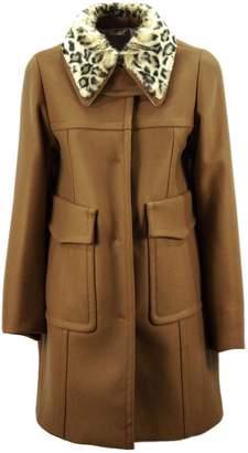 N°21 N.21 Brown Wool And Cashmere Blend Embellished Coat.