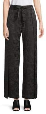 Veda Floral Silk Wide-Leg Pants
