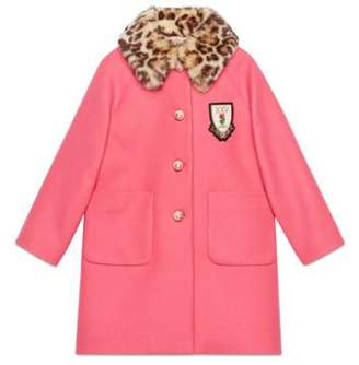 Gucci Children's wool coat with crest