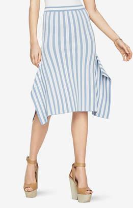 BCBGMAXAZRIA Eden Striped Skirt