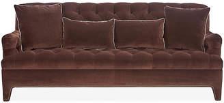 Beverly Tufted Sofa - Brown Velvet - Mark D. Sikes