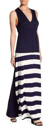 Couture Go Empire Waist Colorblock Maxi Dress