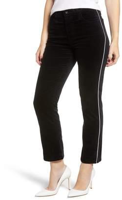 AG Jeans The Isabelle High Waist Ankle Straight Leg Velveteen Jeans