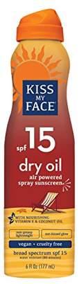 Kiss My Face Sun Dry Oil C-Spray Spf15 6oz