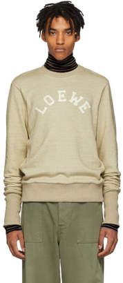Loewe Beige Logo Crewneck Sweater