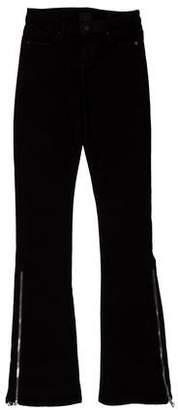 RtA Denim Mid-Rise Flared Jeans